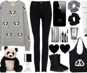 outfit, panda, and fashion image