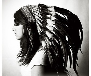 indian, girl, and headdress image