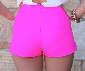 fashion, hot pink, and outfit image
