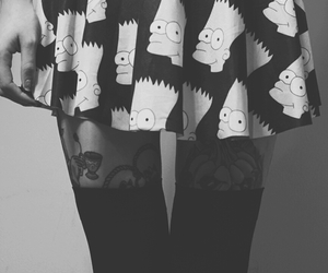 skirt, tattoo, and bart image