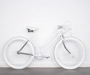 white, bicycle, and bike image