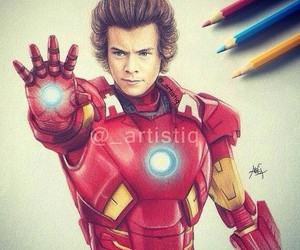 Harry Styles, iron man, and one direction image