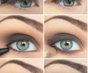 eyes, maquillaje, and sombras image
