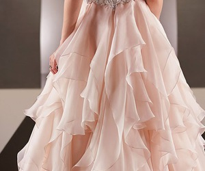 bridal gown, bride, and Couture image