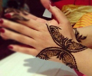 henna, mehendi, and butterfly image