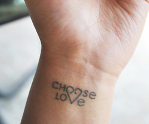 tattoo, love, and choose image