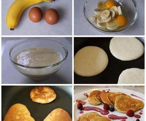 banana, food, and pancakes image