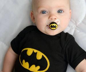 baby, batman, and eyes image