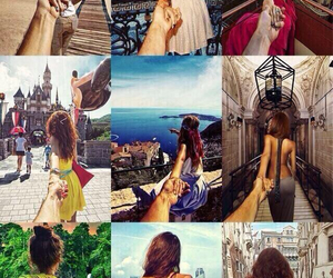 love, travel, and couple image