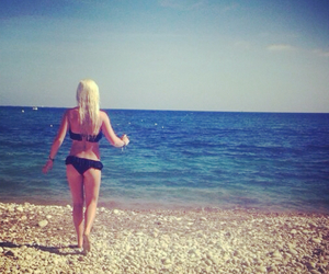 beach, Hot, and blonde image