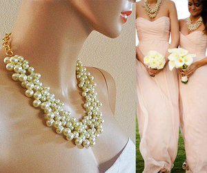 bridal necklace, bridesmaids necklaces, and bridesmaid gifts image