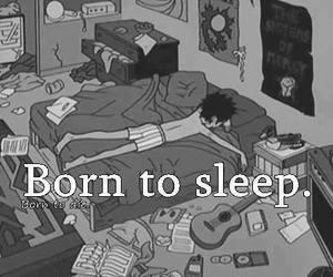 sleep, born, and black and white image