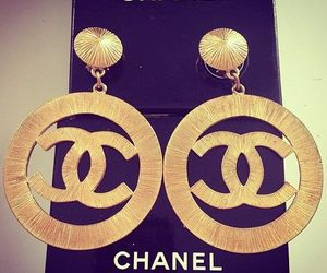 chanel, earrings, and style image