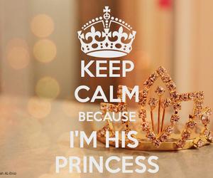 princess, keep calm, and crown image