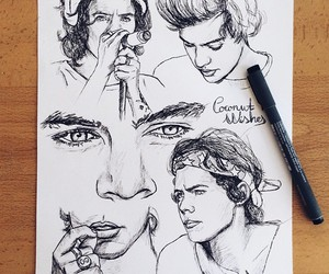 art, harry, and one direction image