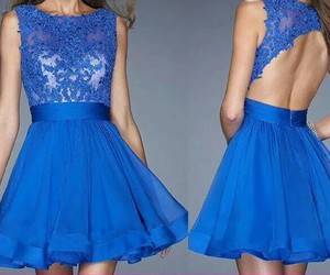 backless dress, blue lace dress, and short lace dress image