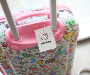hello kitty and suitcase image