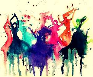 art, dance, and painting image