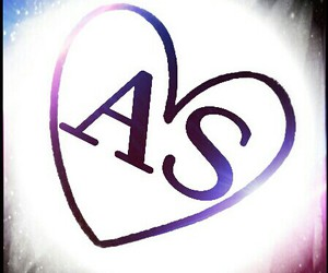 love, blue, and heart image