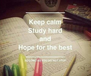 keep calm and hope for the best image