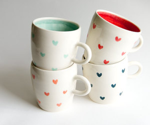 cup, heart, and tea image