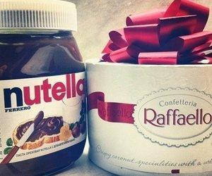 nutella, chocolate, and raffaello image