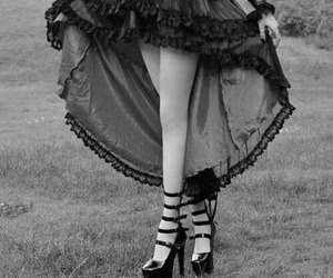 dress, gothic, and black image