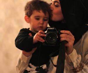 baby, hijab, and camera image