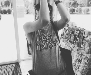 girl, iron maiden, and style image