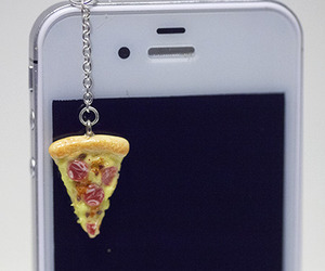 accessories, pizzas, and cellphone image