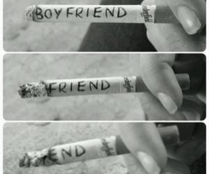 friend, girl, and smoke image
