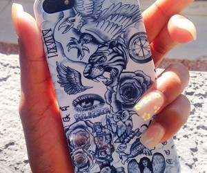 tattoo, iphone, and justin bieber image
