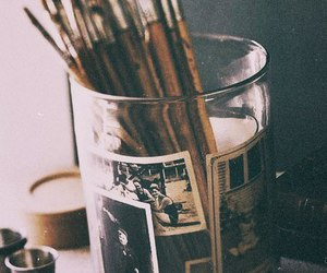 art, Brushes, and vintage image
