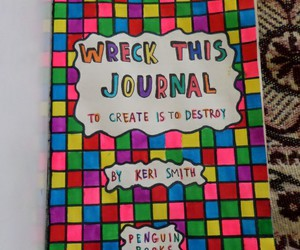 wreck this journal, WTJ, and wreckthisjournal image