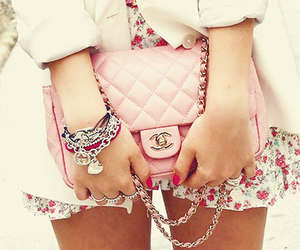 baby pink, chanel, and girl image
