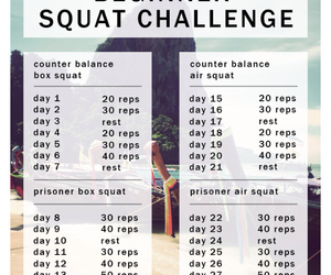 squats, workout, and butt image