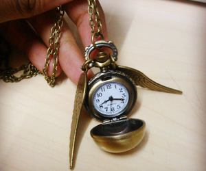 clock, harry potter, and snitch image