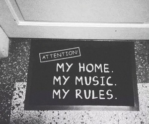 home, music, and rules image