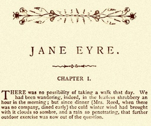 jane eyre and book image