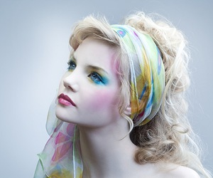blonde and makeup image