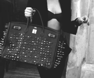 black and white, Lady gaga, and bag image