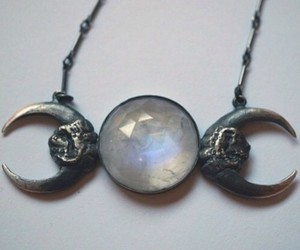 moon, necklace, and grunge image