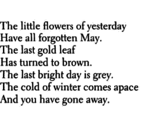 leaves, poem, and gone away image