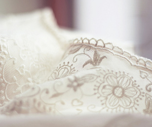 lace, white, and pastel image