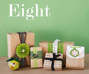 black, giftwrap, and green image
