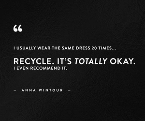 recycle and Anna Wintour image