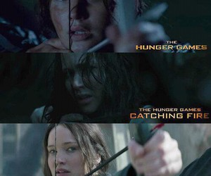 katniss everdeen, the hunger games, and catching fire image
