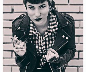 black, rockabilly, and style image