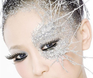 ice queen, makeup, and snow queen image