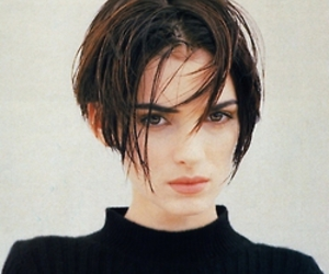 winona ryder, actress, and short hair image